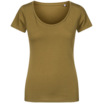 Vêtements Femme T-shirts manches courtes Promodoro T-shirt décolleté grande taille Femmes vert olive
