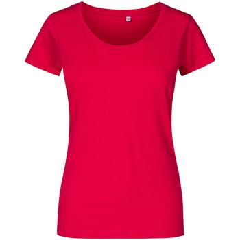 Vêtements Femme T-shirts manches courtes Promodoro T-shirt décolleté grande taille Femmes fushia
