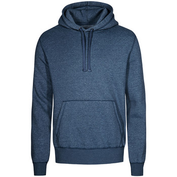 Vêtements Homme Sweats X.o By Promodoro Sweat Capuche X.O Hommes Bleu marine chiné