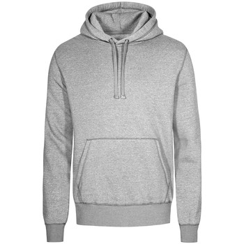 Vêtements Homme Sweats X.o By Promodoro Sweat Capuche X.O grandes tailles Hommes gris chiné