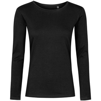 Vêtements Femme T-shirts manches longues Promodoro T-shirt manches longues col rond Femmes noir