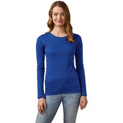Vêtements Femme T-shirts manches longues X.o By Promodoro T-shirt manches longues col rond Femmes bleu azure