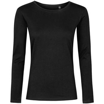 Vêtements Femme T-shirts manches longues X.o By Promodoro T-shirt manches longues col rond grandes tailles Femmes noir