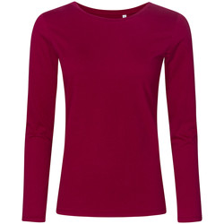 Vêtements Femme T-shirts manches longues X.o By Promodoro T-shirt manches longues col rond grandes tailles Femmes framboise