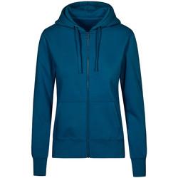 Vêtements Femme Sweats X.o By Promodoro Veste Sweat Capuche Zippée X.O grandes tailles Femmes pétrole