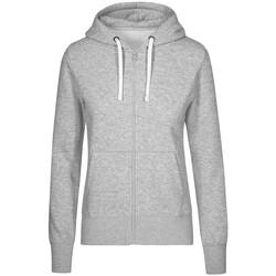Vêtements Femme Sweats Promodoro Veste Sweat Capuche Zippée X.O Femmes gris chiné