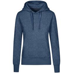 Vêtements Femme Sweats X.o By Promodoro Sweat Capuche X.O Femmes Bleu marine chiné