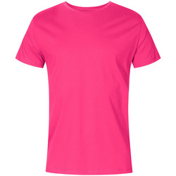 Vêtements Homme T-shirts manches courtes X.o By Promodoro T-shirt col rond grandes tailles Hommes fushia