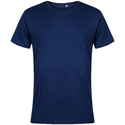 Vêtements Homme T-shirts manches courtes X.o By Promodoro T-shirt col rond grandes tailles Hommes bleu marine français