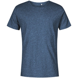 Vêtements Homme T-shirts manches courtes X.o By Promodoro T-shirt col rond grandes tailles Hommes Bleu marine chiné