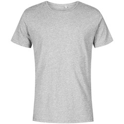 Vêtements Homme T-shirts manches courtes X.o By Promodoro T-shirt col rond grandes tailles Hommes gris chiné
