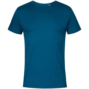 Vêtements Homme T-shirts manches courtes X.o By Promodoro T-shirt col rond grandes tailles Hommes pétrole