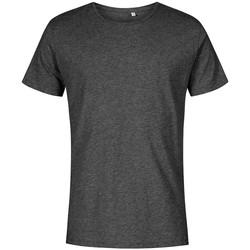 Vêtements Homme T-shirts manches courtes X.o By Promodoro T-shirt col rond Hommes noir chiné