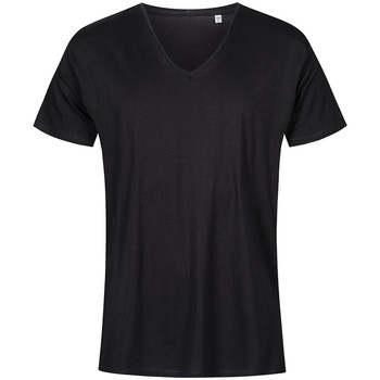 Vêtements Homme T-shirts manches courtes X.o By Promodoro T-shirt col V Hommes noir
