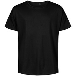 Vêtements Homme T-shirts manches courtes X.o By Promodoro T-shirt oversize grandes tailles Hommes noir