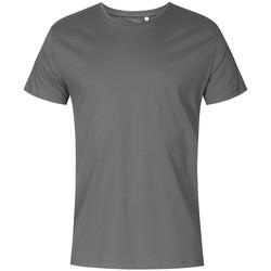 Vêtements Homme T-shirts manches courtes X.o By Promodoro T-shirt oversize grandes tailles Hommes gris acier