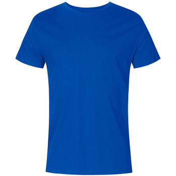 Vêtements Homme T-shirts manches courtes X.o By Promodoro T-shirt col rond grandes tailles Hommes bleu azure