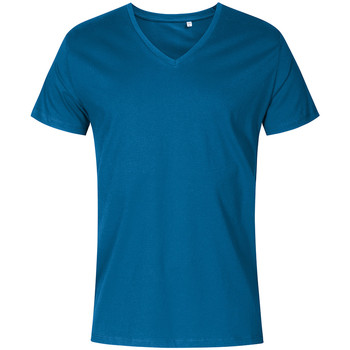 Vêtements Homme T-shirts manches courtes X.o By Promodoro T-shirt col V Hommes pétrole