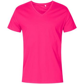Vêtements Homme T-shirts manches courtes X.o By Promodoro T-shirt col V Hommes fushia