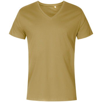 Vêtements Homme T-shirts manches courtes X.o By Promodoro T-shirt col V Hommes vert olive