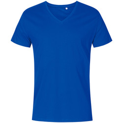 Vêtements Homme T-shirts manches courtes X.o By Promodoro T-shirt col V grandes tailles Hommes bleu azure