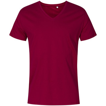 Vêtements Homme T-shirts manches courtes X.o By Promodoro T-shirt col V grandes tailles Hommes framboise