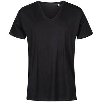 Vêtements Homme T-shirts manches courtes X.o By Promodoro T-shirt col V grandes tailles Hommes noir