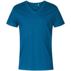 Vêtements Homme T-shirts manches courtes X.o By Promodoro T-shirt col V grandes tailles Hommes pétrole