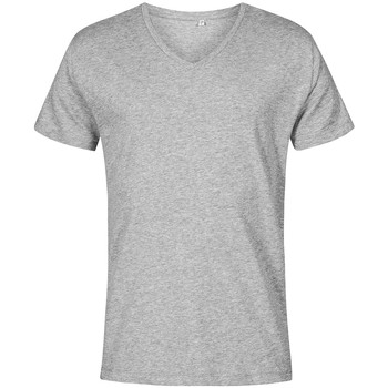 Vêtements Homme T-shirts manches courtes X.o By Promodoro T-shirt col V grandes tailles Hommes gris chiné