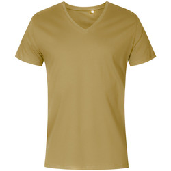 Vêtements Homme T-shirts manches courtes X.o By Promodoro T-shirt col V grandes tailles Hommes vert olive
