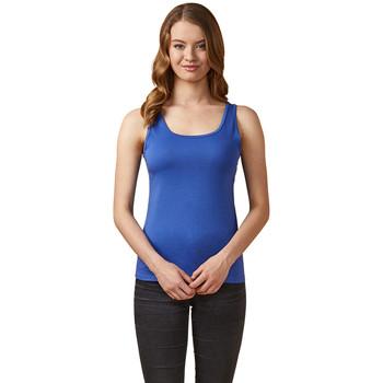 Vêtements Femme Débardeurs / T-shirts sans manche X.o By Promodoro Top col rond Femmes bleu azure