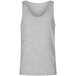 Vêtements Homme Débardeurs / T-shirts sans manche X.o By Promodoro Débardeur col rond Hommes gris chiné