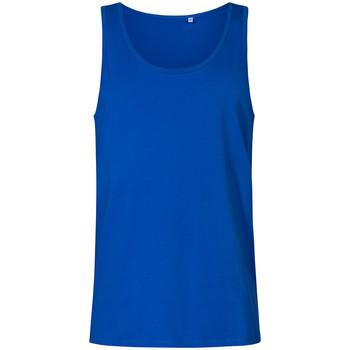 Vêtements Homme Débardeurs / T-shirts sans manche X.o By Promodoro Débardeur col rond grandes tailles Hommes bleu azure