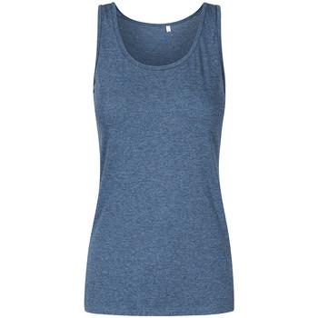 Vêtements Femme Débardeurs / T-shirts sans manche X.o By Promodoro Top col rond grandes tailles Femmes Bleu marine chiné
