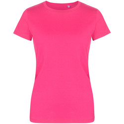 Vêtements Femme T-shirts manches courtes Promodoro T-shirt col rond grandes tailles Femmes fushia