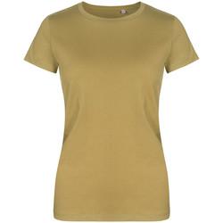 Vêtements Femme T-shirts manches courtes Promodoro T-shirt col rond grandes tailles Femmes vert olive