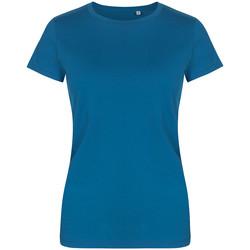 Vêtements Femme T-shirts manches courtes X.o By Promodoro T-shirt col rond grandes tailles Femmes pétrole