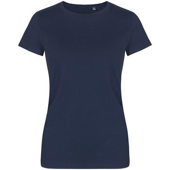 Vêtements Femme T-shirts manches courtes X.o By Promodoro T-shirt col rond grandes tailles Femmes bleu marine français