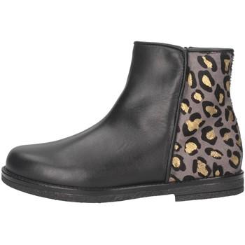 Chaussures Fille Bottines Eli 6202Z NERO/MACULATO Noir