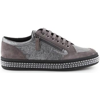 Chaussures Femme Baskets basses Geox D Leelue Argent, Marron