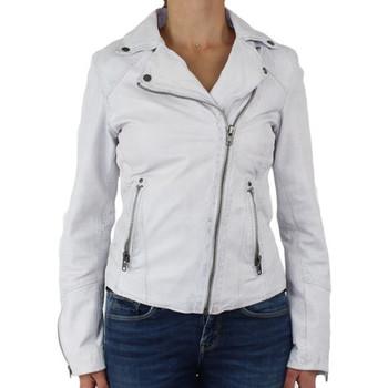 Veste Oakwood Blouson style perfecto en cuir ref_cco38574-blanc