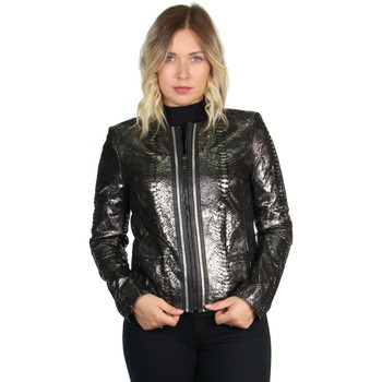 Vêtements Femme Blousons Giorgio Cuirs Veste Giorgio en cuir ref_47415 Noir Noir