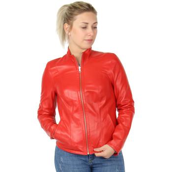 Vêtements Femme Blousons Akhesa Blouson en cuir réversible  ref_45894 Rouge Rouge