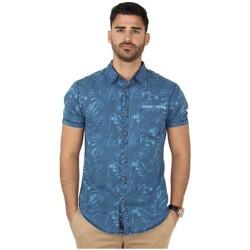 Vêtements Homme Chemises manches longues Timezone Chemise  ref_45848 Bleu bleu