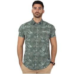 Vêtements Homme Chemises manches longues Timezone Chemise  ref_45849 Olive vert