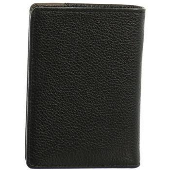 Sacs Homme Portefeuilles Hexagona Petit porte-cartes  cuir ref_46583 Noir/Ta noir