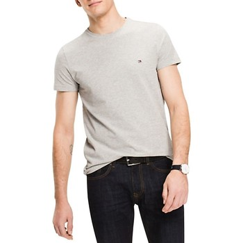 Vêtements Homme T-shirts manches courtes Tommy Hilfiger Teeshirt manches courtes col rond Gris Chine