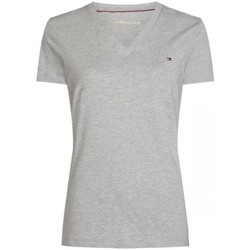 Vêtements Femme T-shirts manches courtes Tommy Hilfiger Teeshirt manches courtes col V HERITAGE Gris Chine