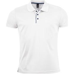 Vêtements Homme Polos manches courtes Sols PERFORMER MEN SPORT Blanco