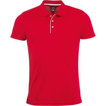 Vêtements Homme Polos manches courtes Sols PERFORMER MEN SPORT Rojo